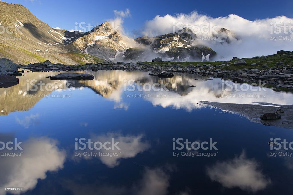 Cloud reflection royalty-free stock photo