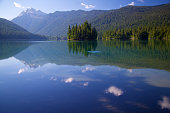 Cloud reflections in Packwood lake