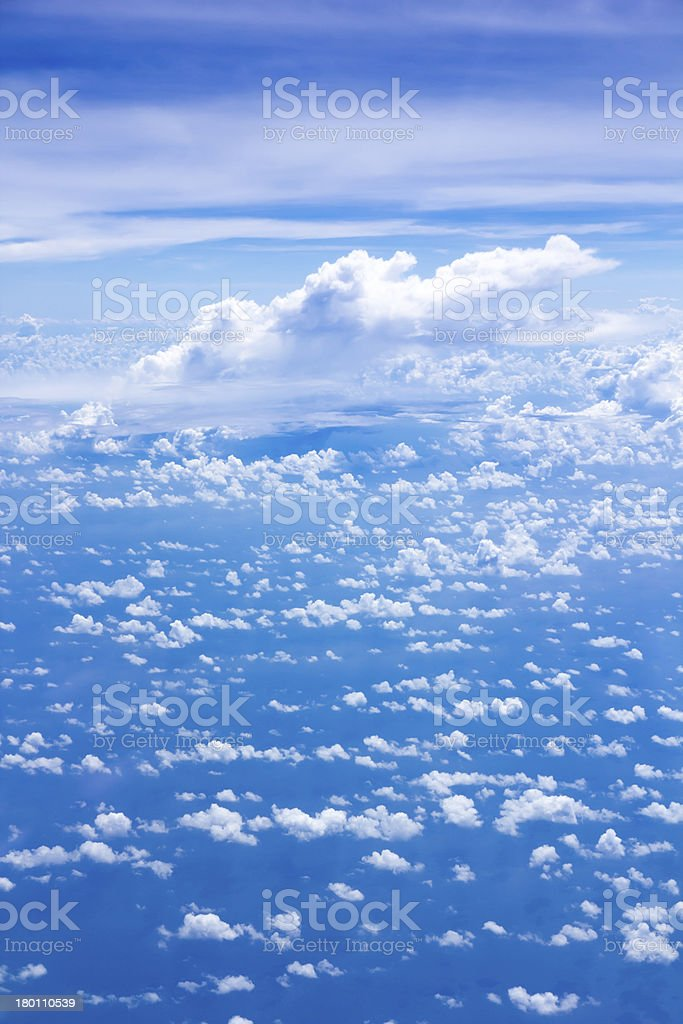 cloud scatter on blue sky royalty-free stock photo