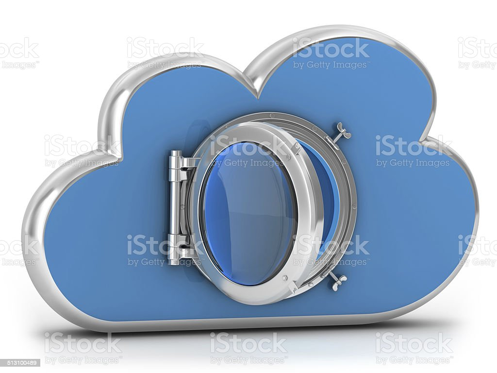 Cloud Security - Window stock photo
