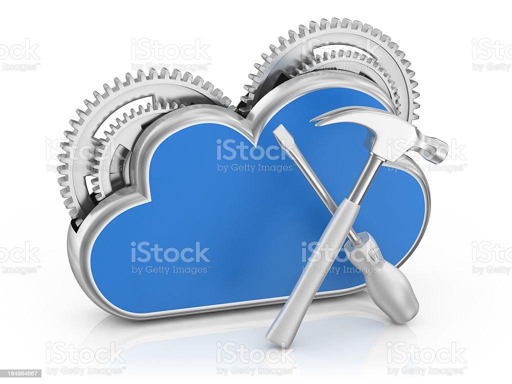 Cloud  Server stock photo