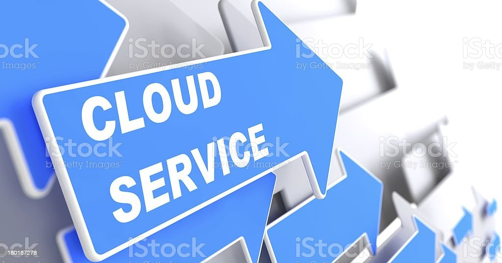 Cloud Service. Internet Concept. stock photo