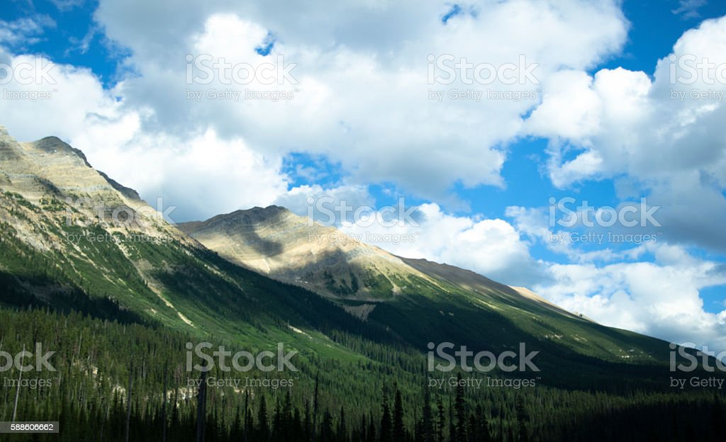 Cloud Shadows on a Mountain stock photo