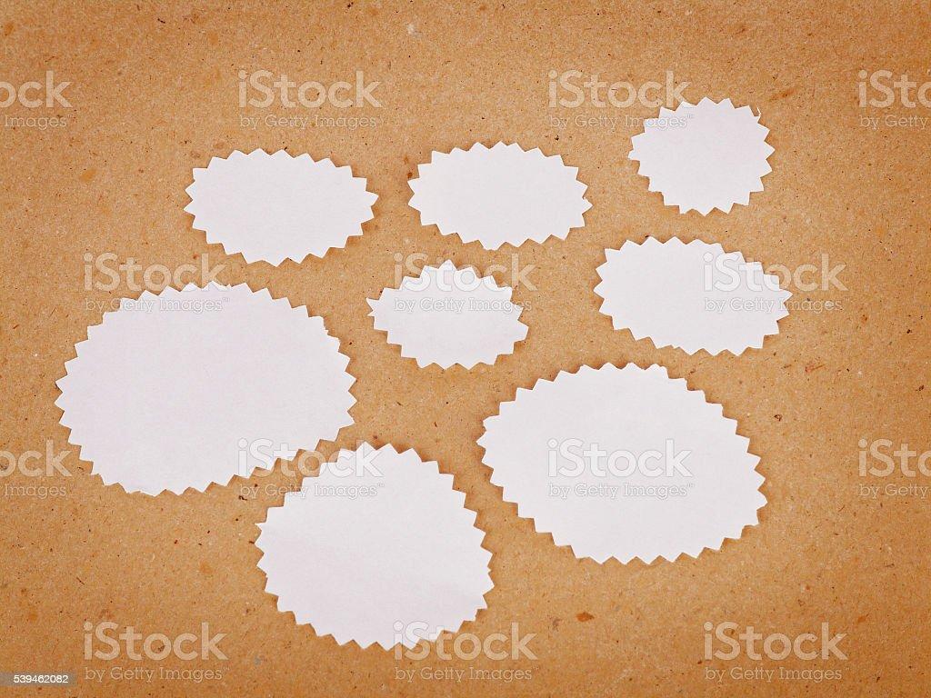 Cloud shape notes stock photo