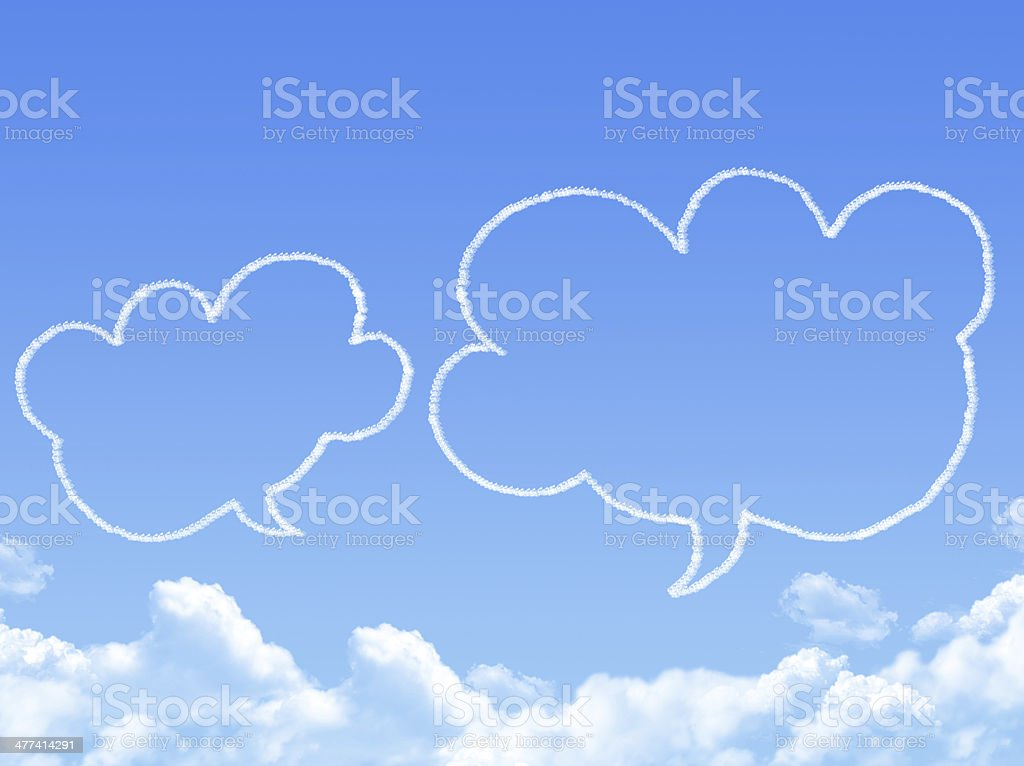 Cloud shaped as chat ,dream concept royalty-free stock photo