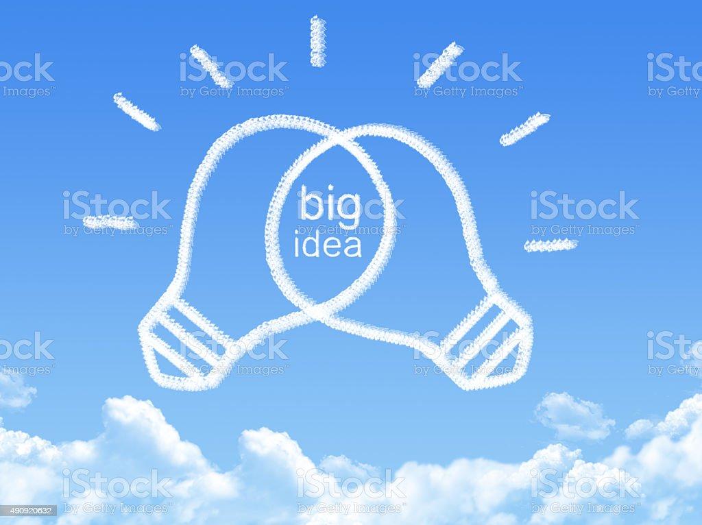 Cloud shaped as idea concept stock photo