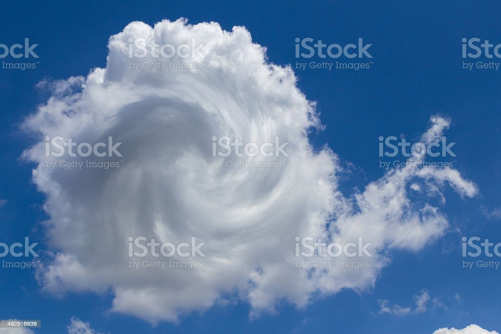 Cloud snaily stock photo
