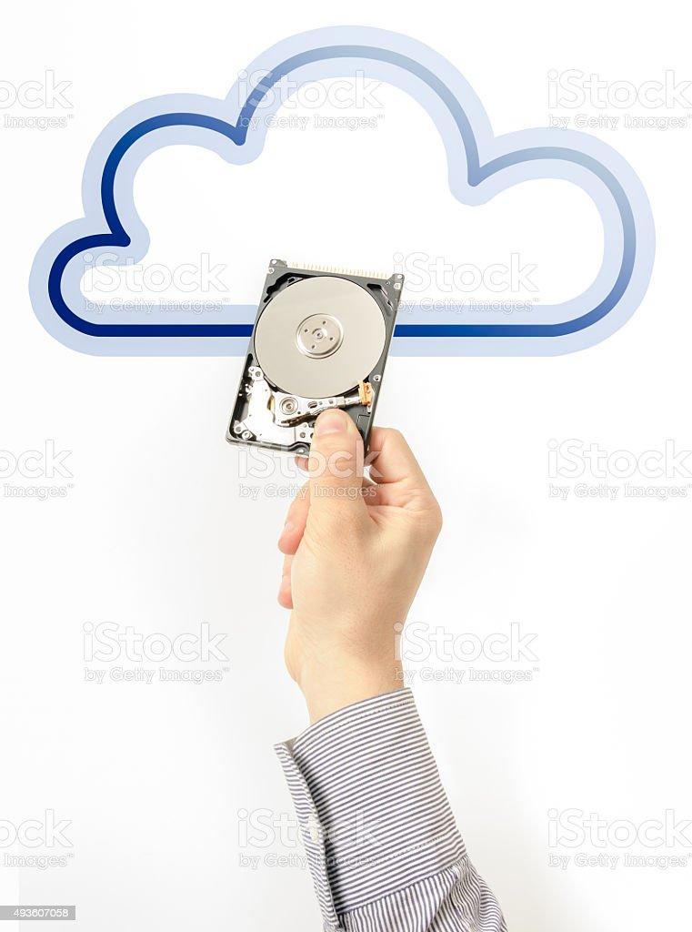 Cloud storage stock photo