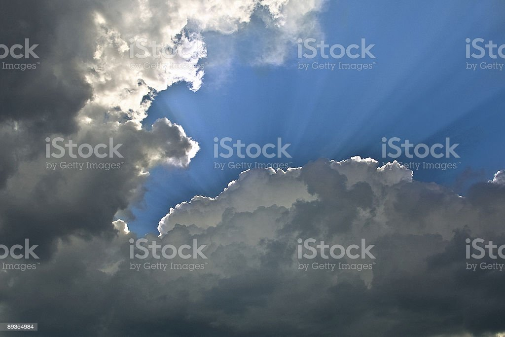 Cloud Sunburst royalty-free stock photo