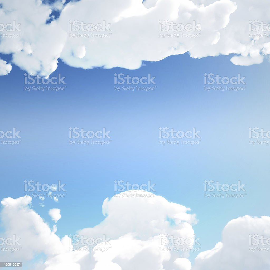 Cloud texture with clear sky royalty-free stock photo