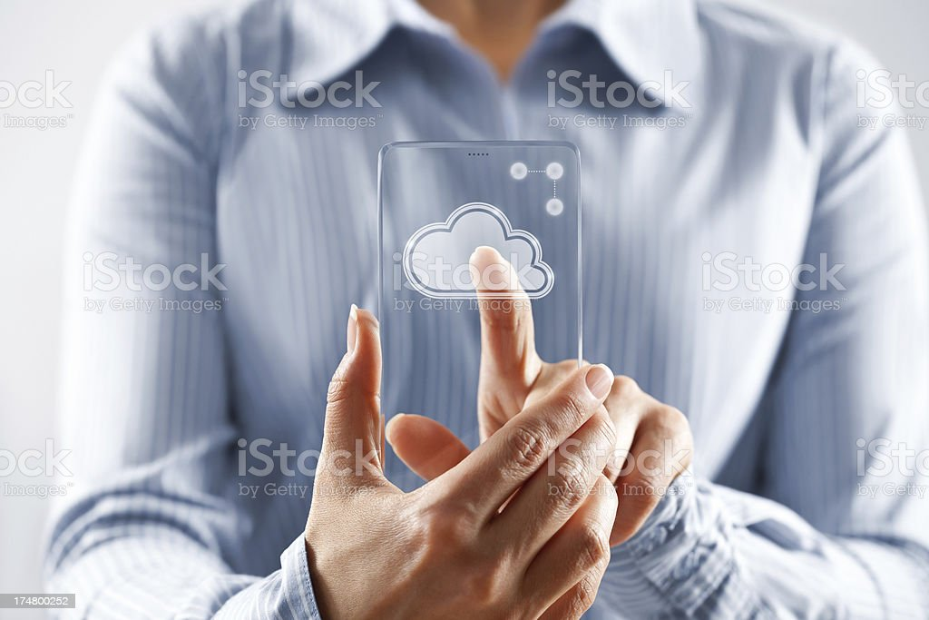 Cloud touch concept royalty-free stock photo