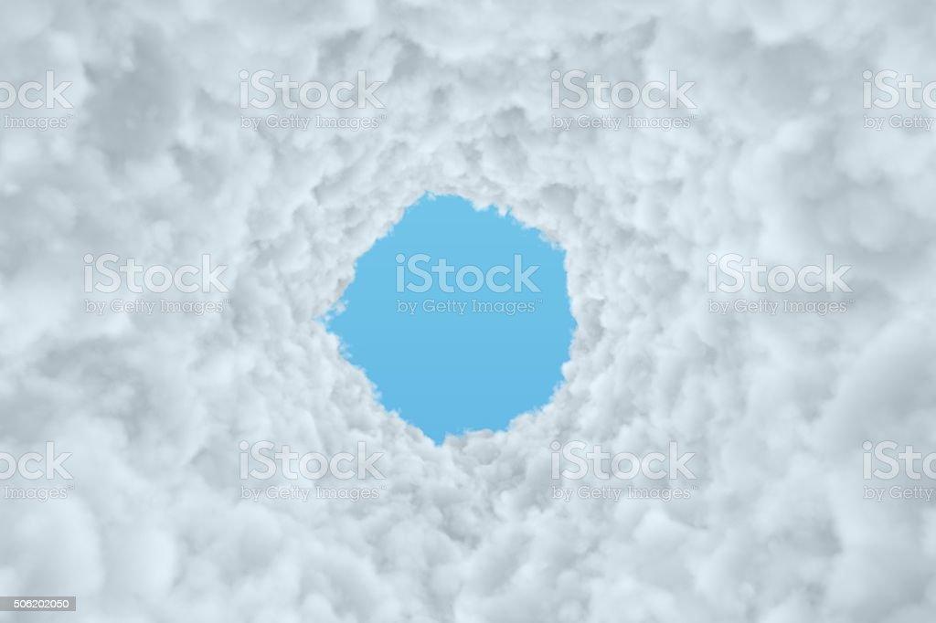 Cloud Tunnel stock photo