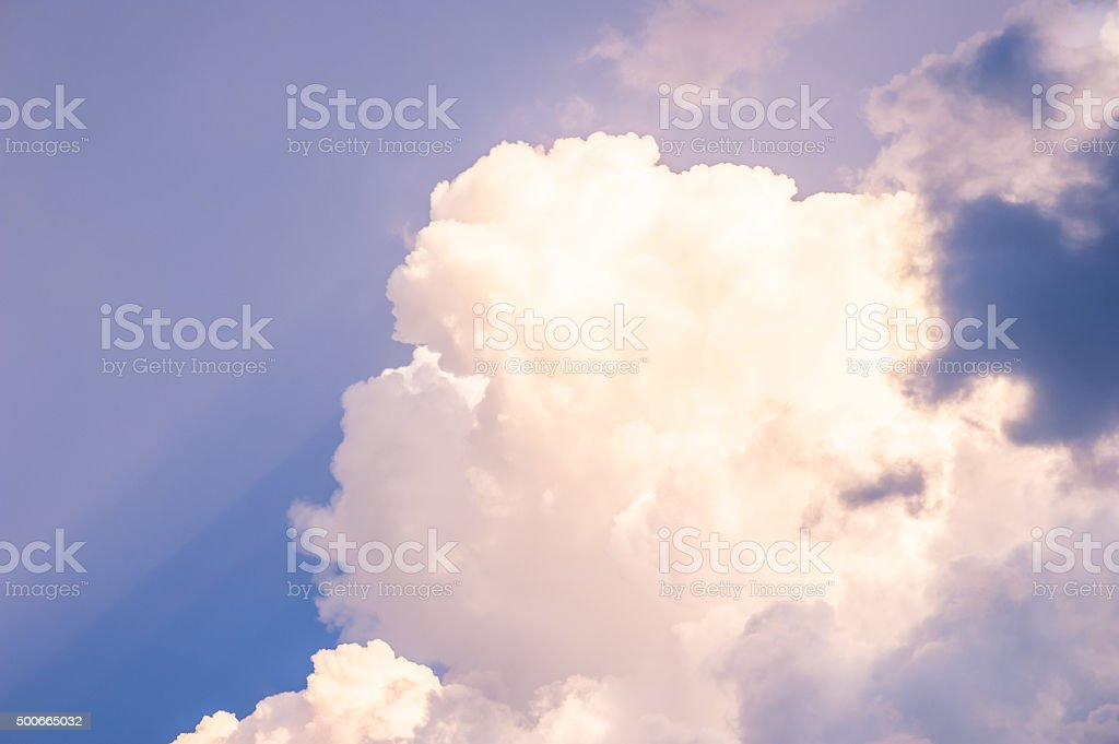 Cloud with blue sky stock photo