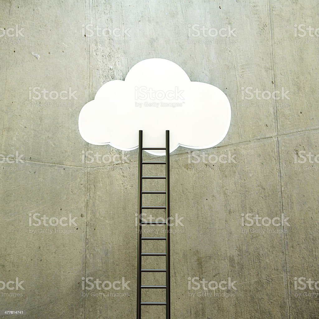 cloud with ladder royalty-free stock photo