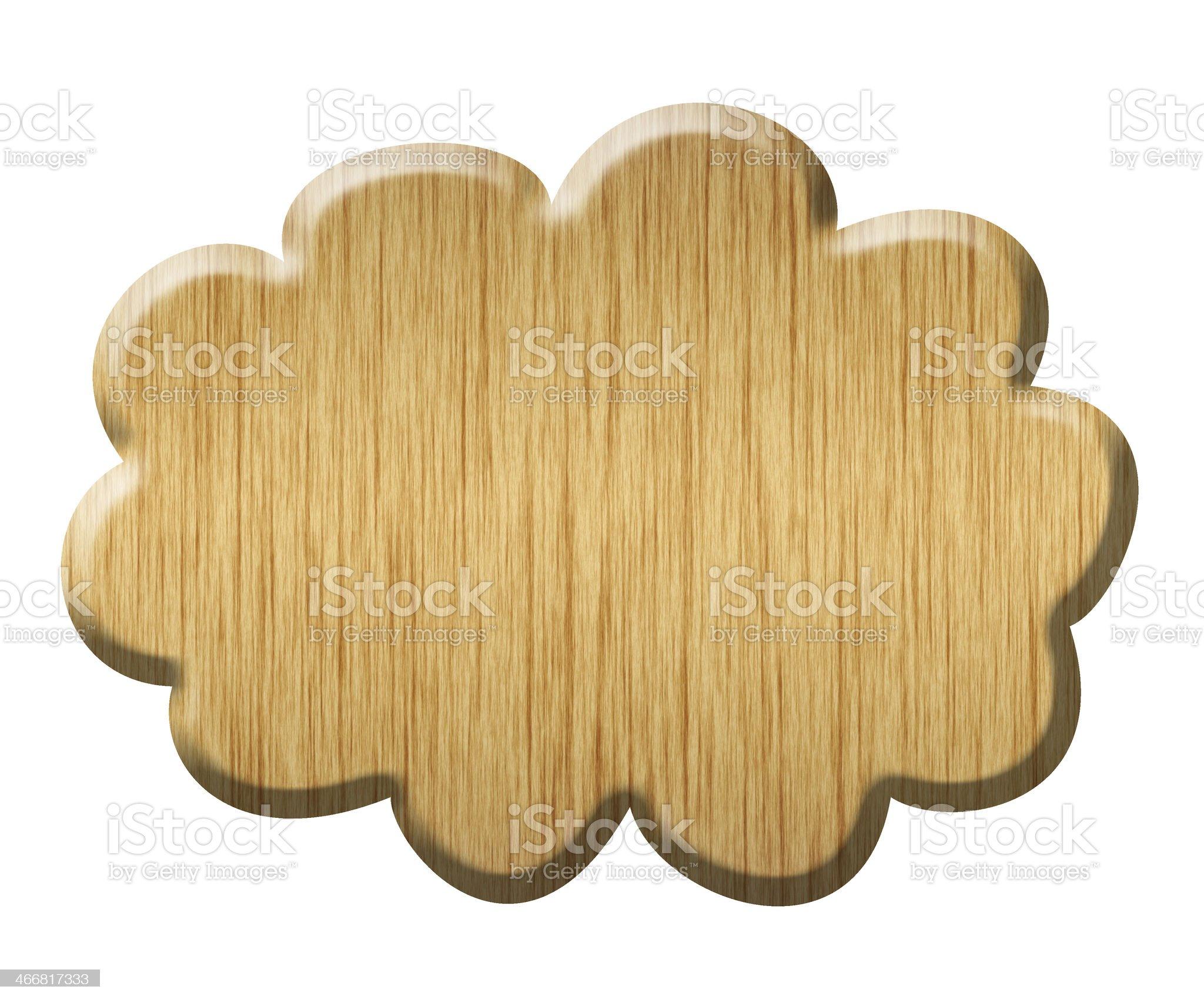 Cloud wood royalty-free stock photo