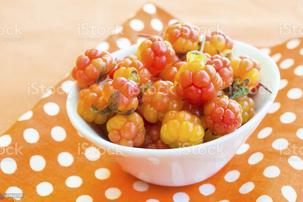Cloudberries royalty-free stock photo