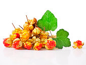 Cloudberry with leaves