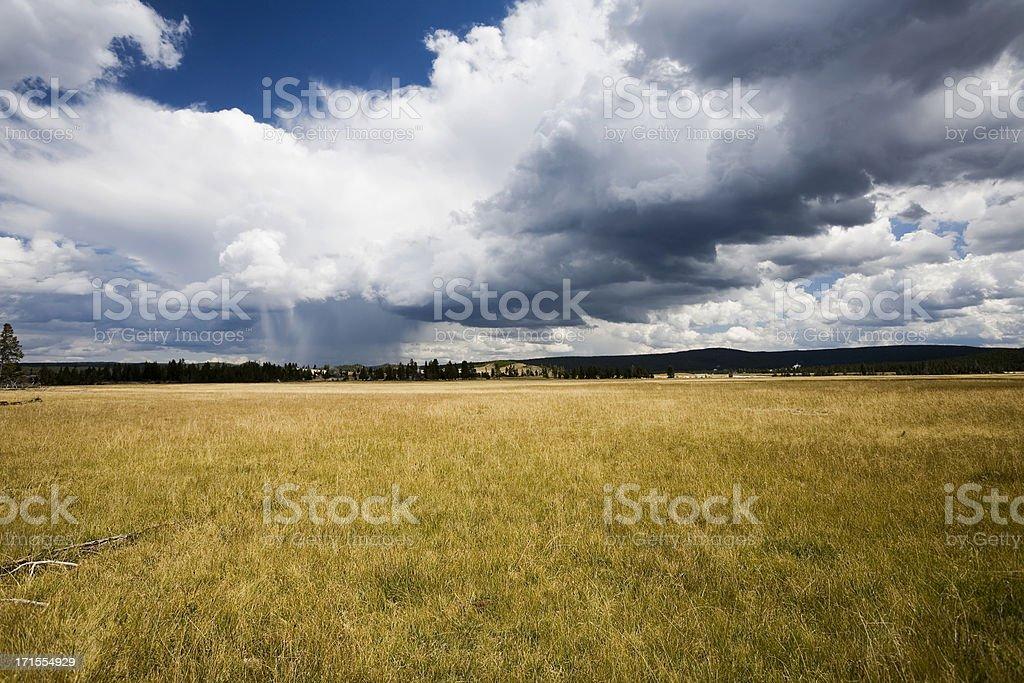 Cloudburst over Yellowstone royalty-free stock photo