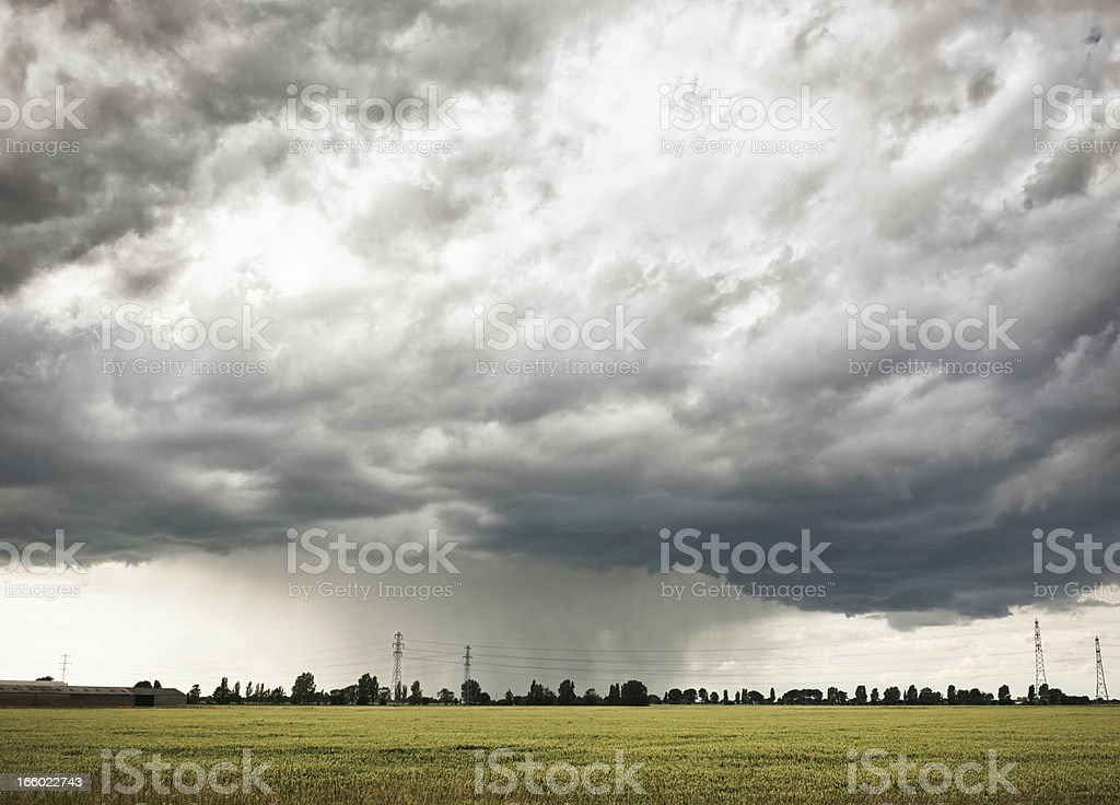 Cloudburst royalty-free stock photo