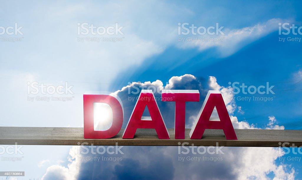 cloudcomputing word data stock photo