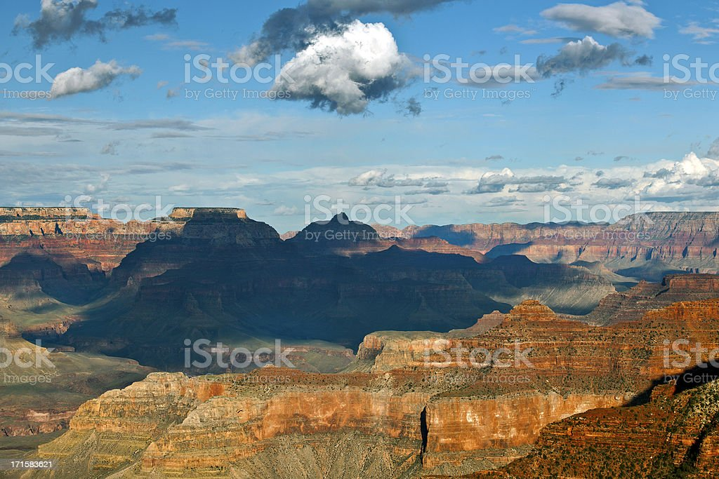 Clouds above Grand Canyon, Mather Point Arizona USA royalty-free stock photo