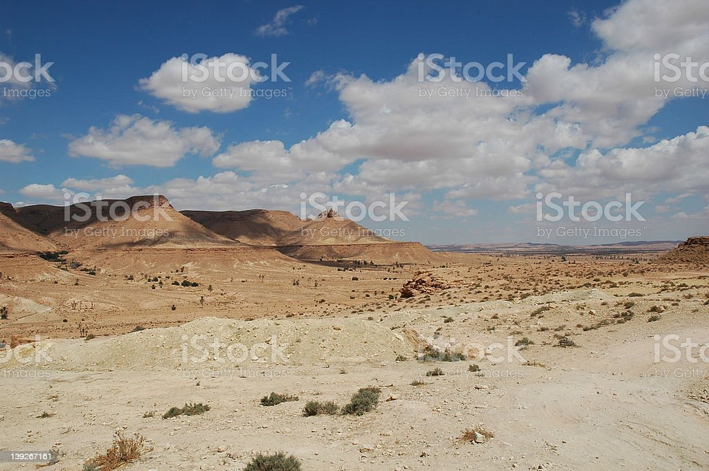 Clouds above the desert stock photo