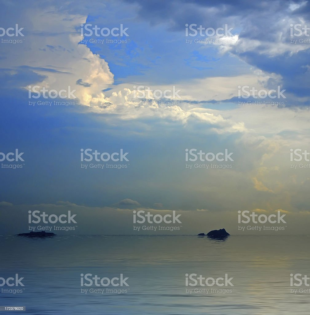clouds after the storm royalty-free stock photo