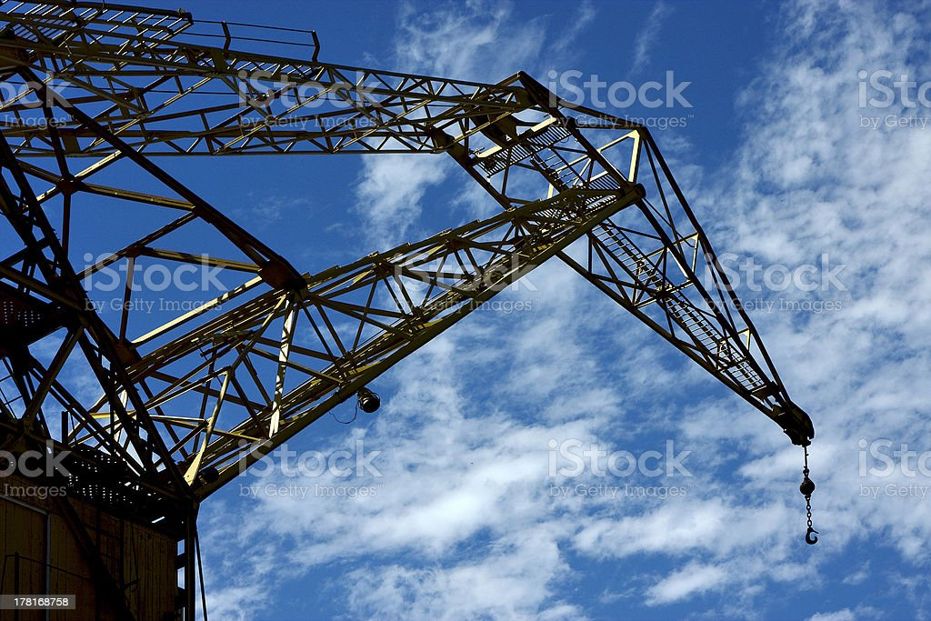 clouds and crane in  buenos aires argentina royalty-free stock photo