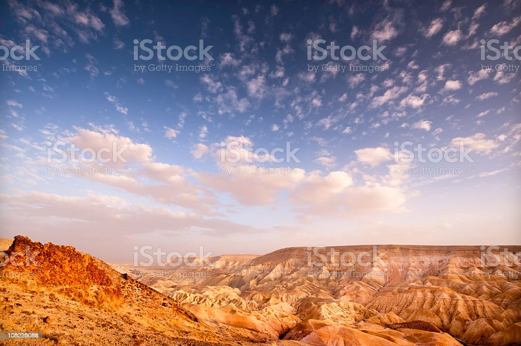 Clouds and Desert Colliding royalty-free stock photo