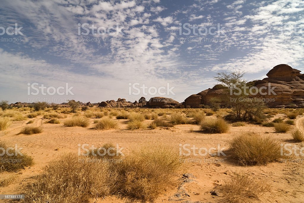 Clouds and Desert stock photo