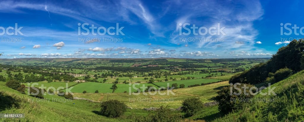 Clouds and landscape in the Yorkshire Dales, UK stock photo