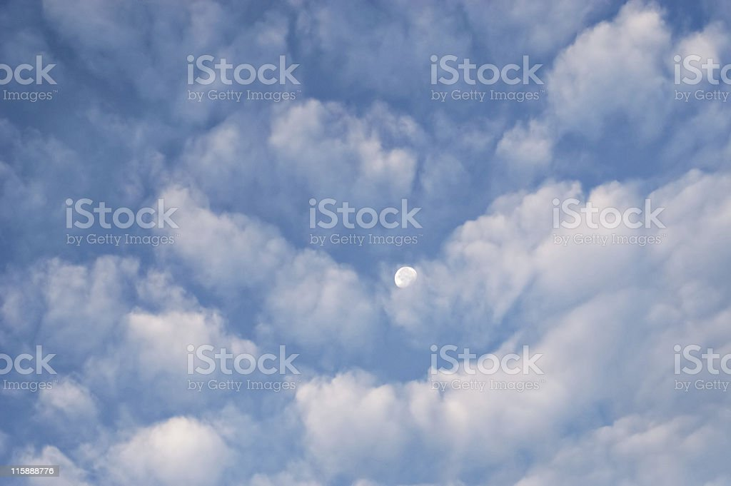 Clouds and moon royalty-free stock photo