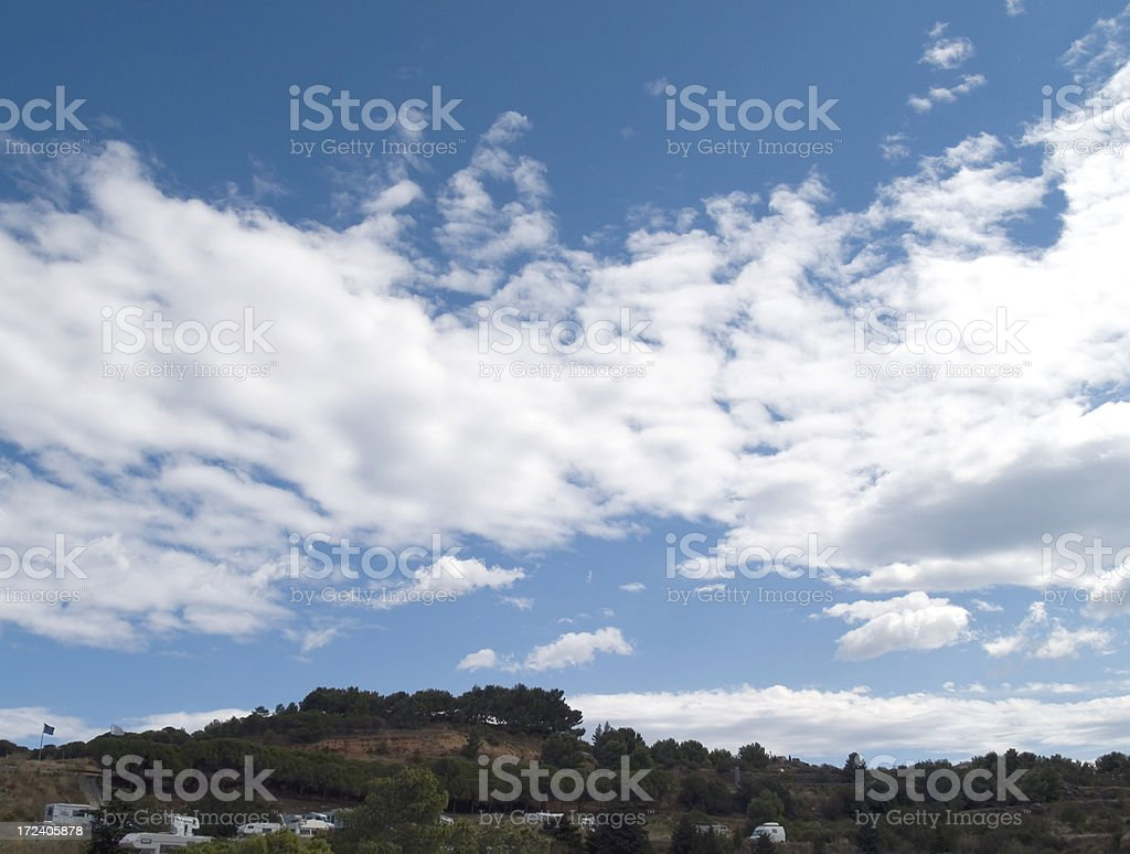 Clouds and motor homes royalty-free stock photo