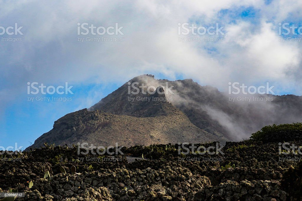 Clouds and mountains stock photo