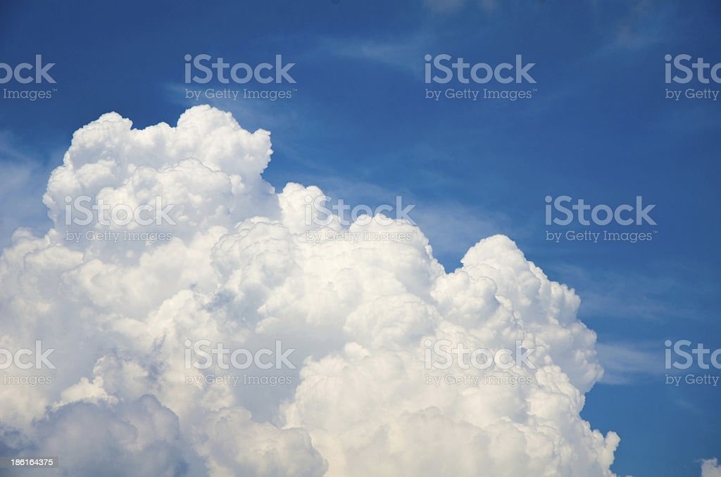 Clouds and nice clean sky royalty-free stock photo