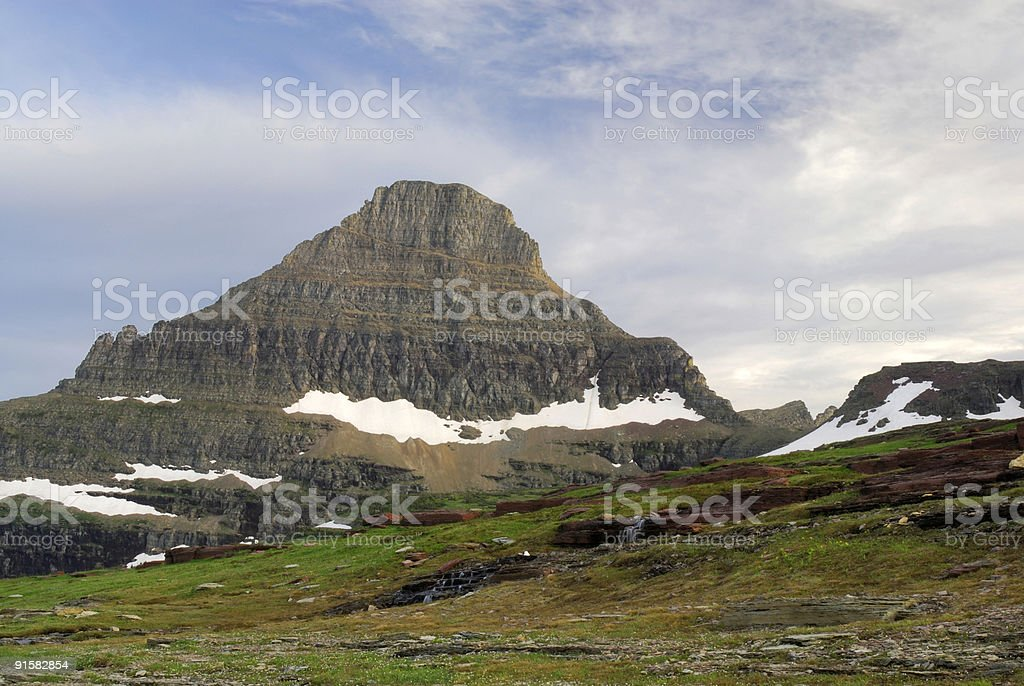 Clouds and Reynolds Mtn royalty-free stock photo