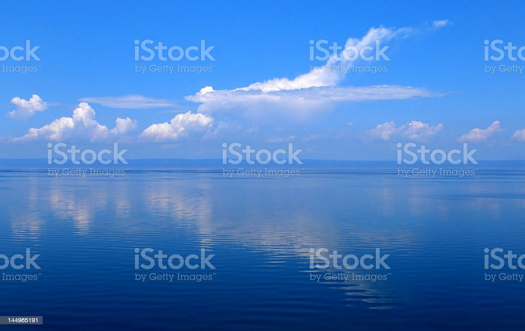 Clouds and sea royalty-free stock photo