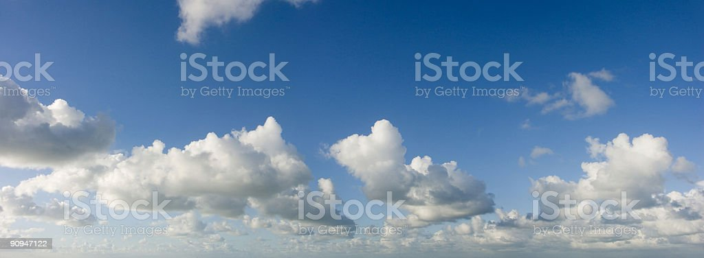 Clouds and Sky Panorama royalty-free stock photo