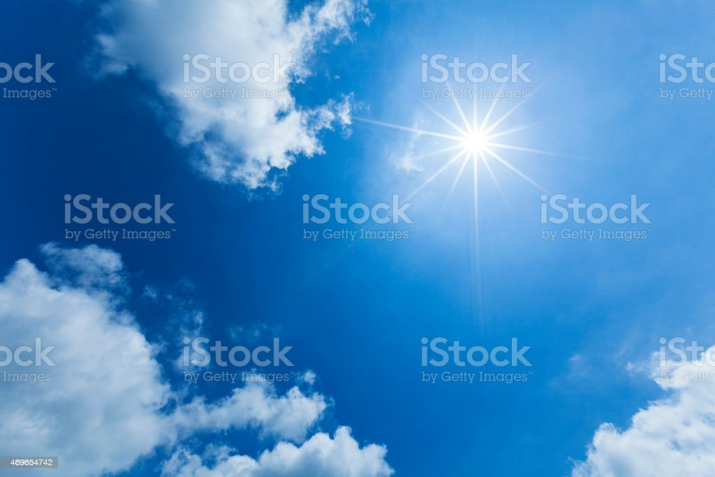 Clouds and Sunlight stock photo