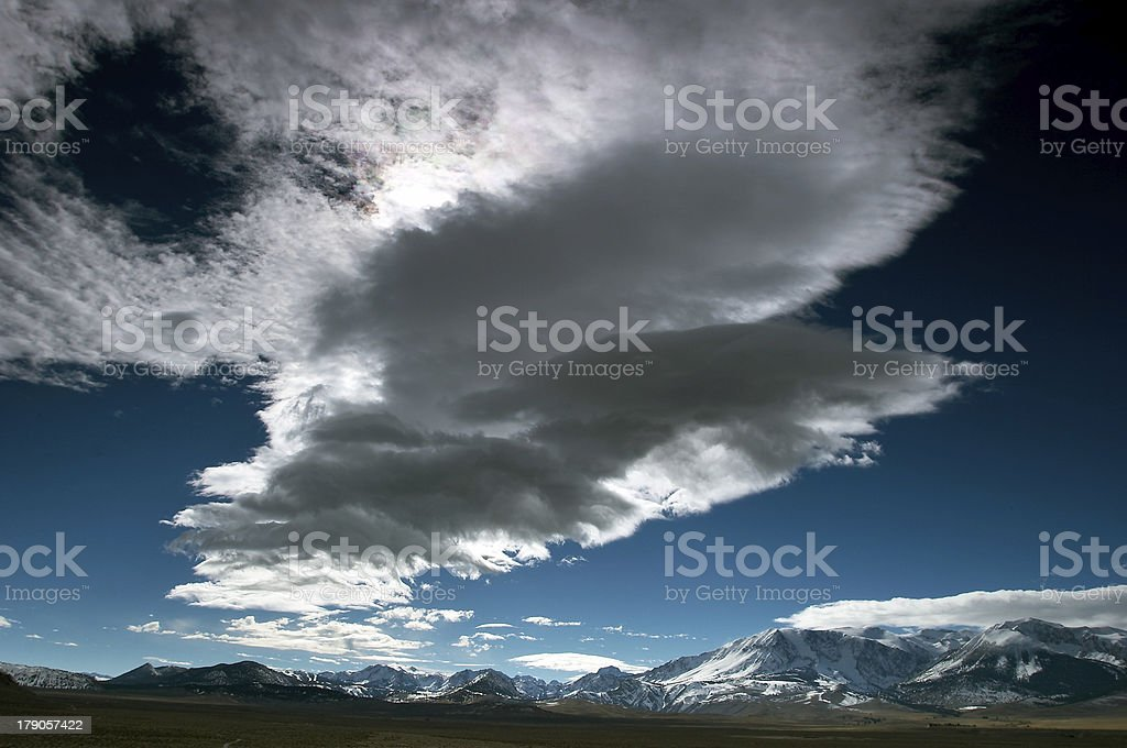 Clouds and the blue sky stock photo