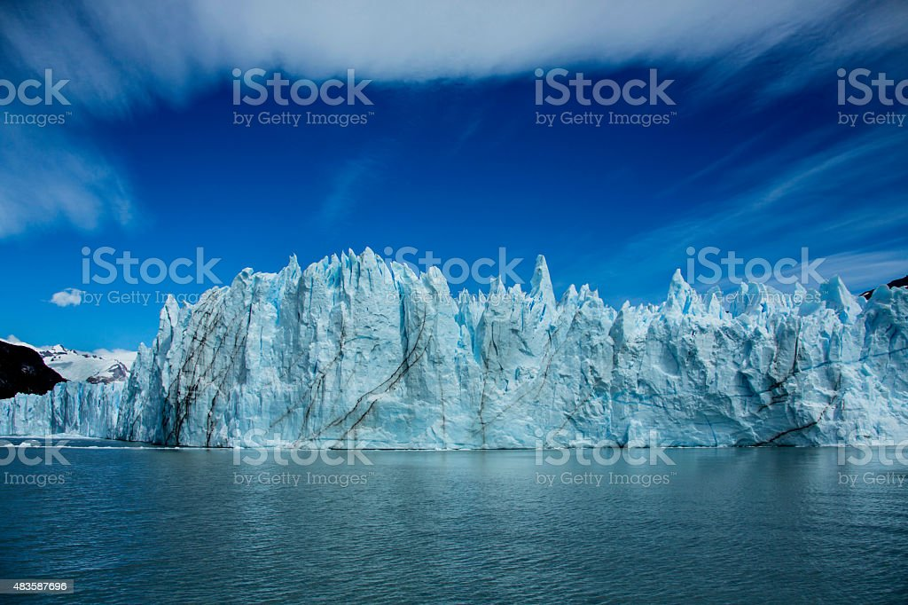 Clouds and the glacier stock photo