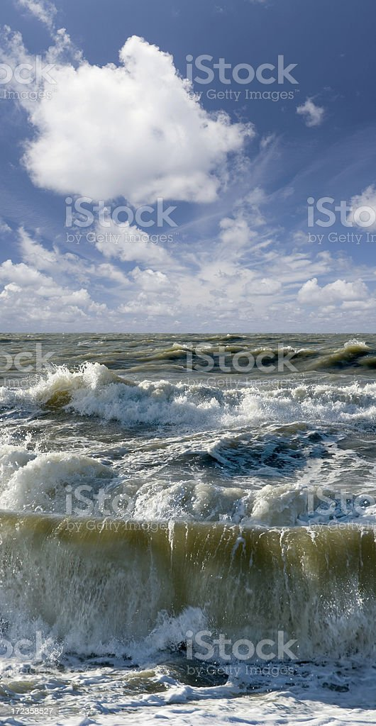 Clouds and Waves royalty-free stock photo