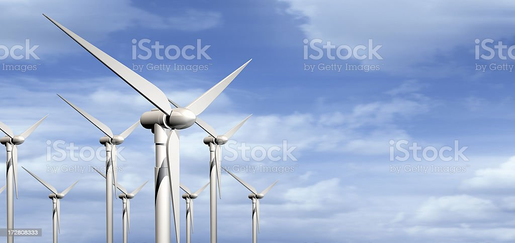 clouds and wind royalty-free stock photo