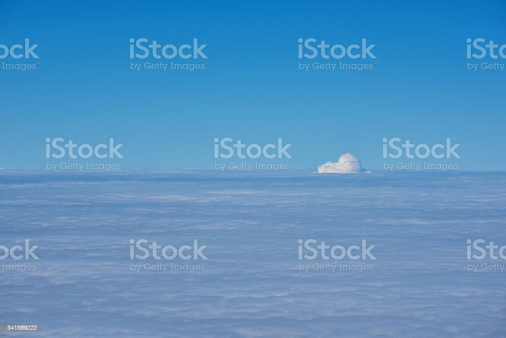 Clouds at 30,000 Feet stock photo