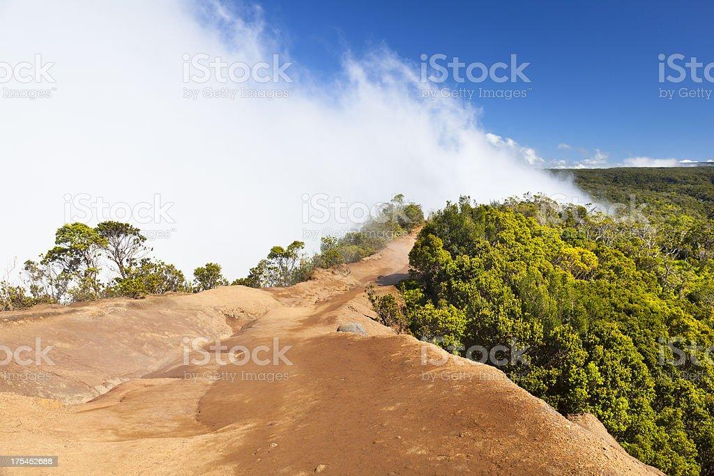 Clouds At Kalalau Lookout, Kauai stock photo