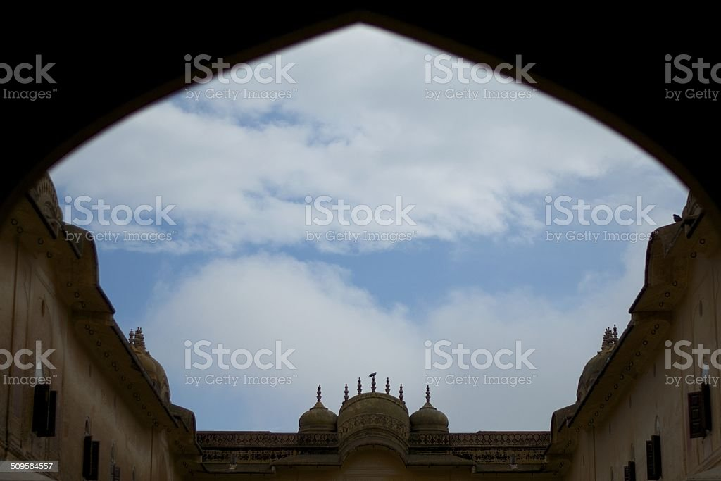 Clouds at Nahargarh Fort stock photo