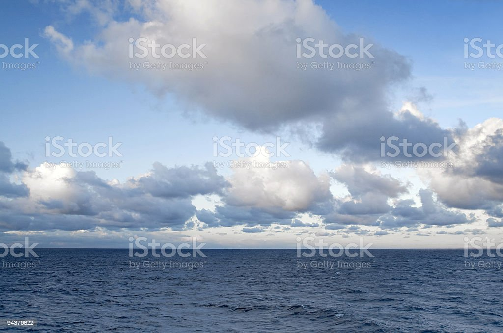 Clouds at sea royalty-free stock photo