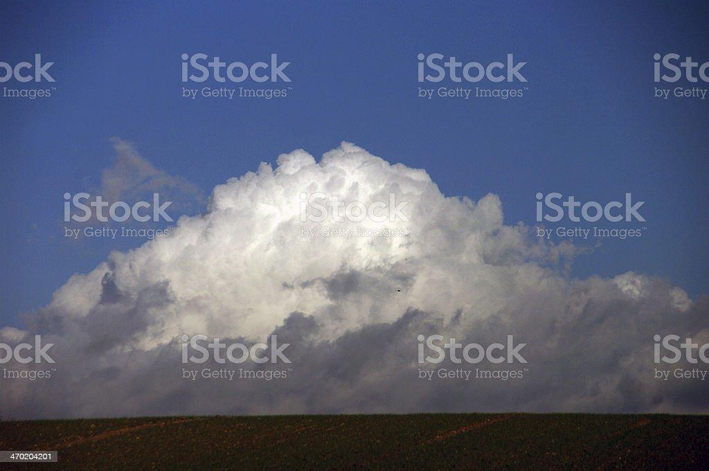 Clouds at the horizon royalty-free stock photo