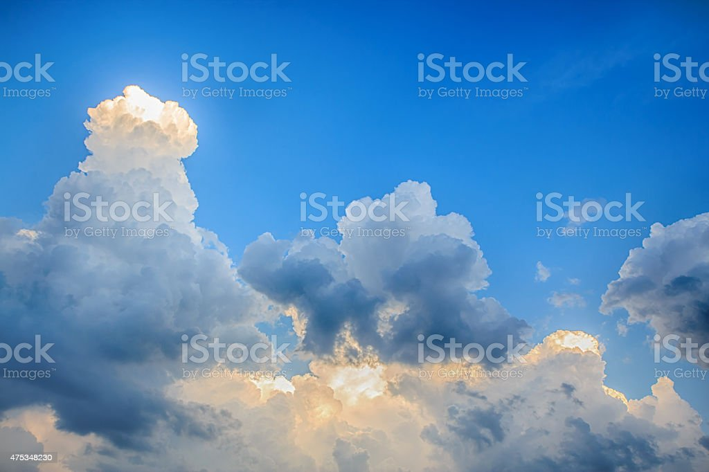 Clouds before storm with blue sky royalty-free stock photo