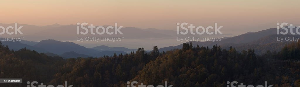 Clouds Beneath Autumn Peaks (18 MP) royalty-free stock photo